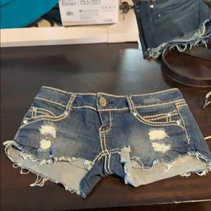 Almost famous size 7 shorts embellished